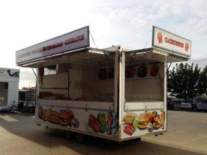 Atrelado venda ambulante de alimentação